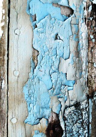 peeling paint: tavolato in legno con blu peeling vernice Archivio Fotografico