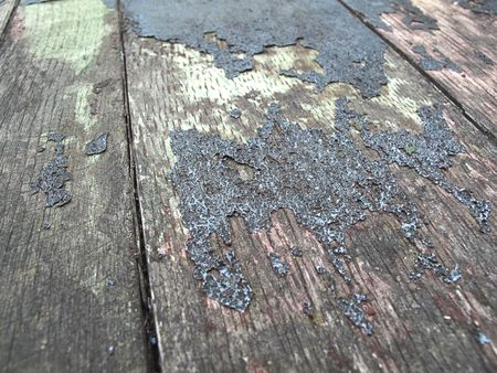 pealing: old wooden plank with pealing paint