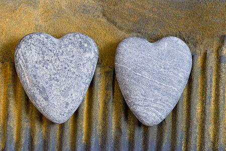 stone heart on rusty surface Stock Photo - 5729903