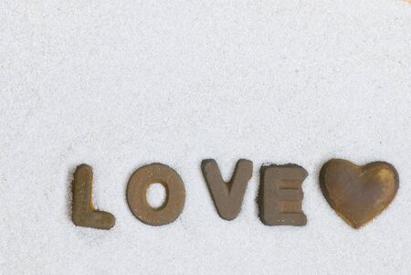 word love in rusty letters photo