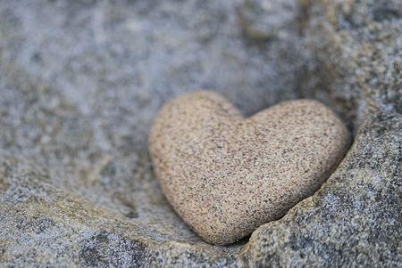 sand stone: sand look alike heart