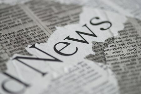 fragments: collage of newspaper fragments with text