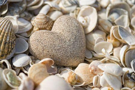 sand look alike heart