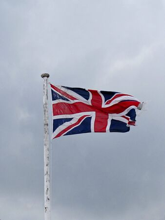 british flag in front of cloudy sky Stock Photo - 6534697
