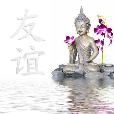 물, 우정에 대한 중국 상징에있는 부처 상