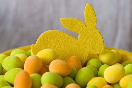 felt easter bunnies and colorful eggs Stock Photo - 6534694