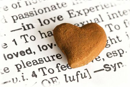 rusty heart on dictionary love text Stock Photo - 6550604