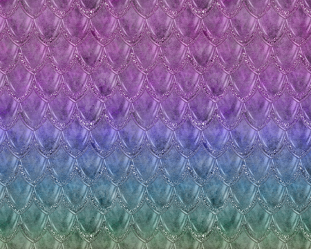 Mermaid or fish scales with pastel gradient, bright trendy summer pattern with reptilian scales, perfect for scrapbooking, wallpaper, greeting cards, stationary or fabric