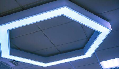 Se Con Azules Algunos Hexágonos Grandes Luz Interior 3j45RALq