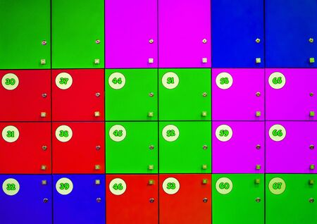 Close Up Of Student Lockers In High School Stock Photo