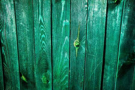 vintage green wooden fence as background
