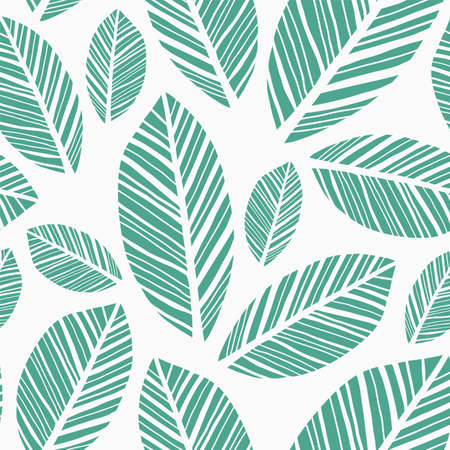 Leaves Pattern. Endless background. Seamless Vector Illustration