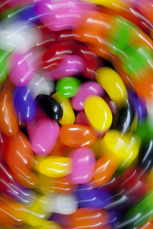 jelly beans: Swirl effect on colorful jelly beans. Stock Photo