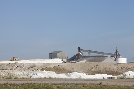 deposition: Sodium sulphate plant in the prairies of Chaplin, Saskatchewan, Canada.
