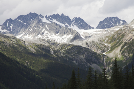 Beautiful Canadian Rocky Mountains of British Columbia, Canada. Stock Photo