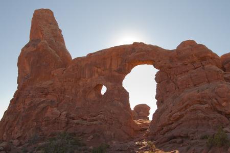 Natural arch formation at Arches National Park, Utah, USA.