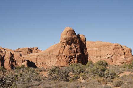 アーチーズ国立公園、ユタ州、アメリカ合衆国で自然の岩の形成。
