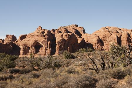 アーチーズ国立公園、ユタ州、アメリカ合衆国で自然の岩の形成。 写真素材 - 84417828