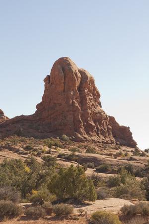 アーチーズ国立公園、ユタ州、アメリカ合衆国で自然の岩の形成。 写真素材 - 84468653