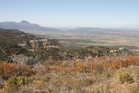 メサ ・ ベルデ国立公園、コロラド州、アメリカの美しい風景です。