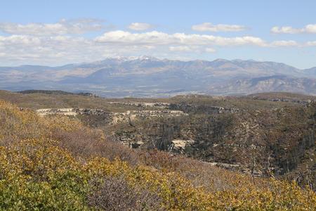 Beautiful landscape of Mesa Verde national park, Colorado, USA.
