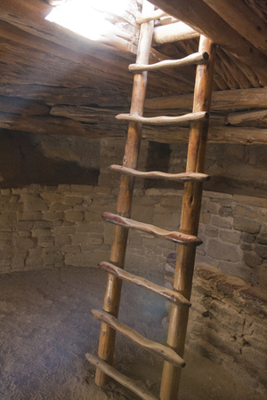 Ruins of ancient dwellings at Spruce Tree House, Mesa Verde, Colorado, USA. Imagens - 85584103
