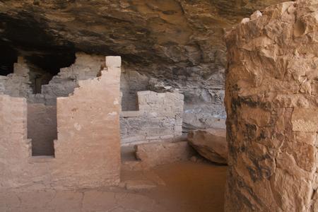 トウヒの木の家、メサベルデ国立公園、コロラド州、アメリカで古代の住居の遺跡します。