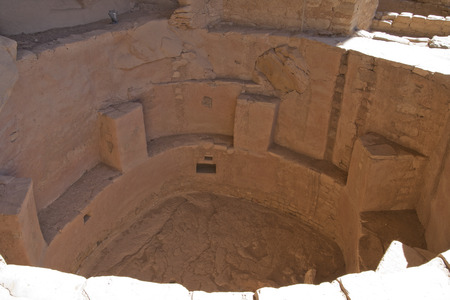 Ruins of ancient dwellings at Spruce Tree House, Mesa Verde, Colorado, USA. Imagens - 85584104