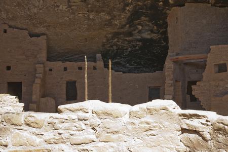 トウヒの木の家、メサベルデ国立公園、コロラド州、アメリカで古代の住居の遺跡します。 写真素材 - 85584105