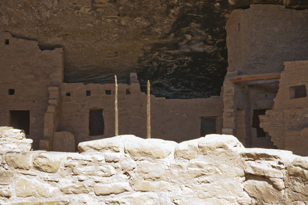 Ruins of ancient dwellings at Spruce Tree House, Mesa Verde, Colorado, USA. Imagens - 85584105