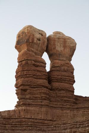 米国ユタ州サンファンで美しい赤い岩の記念碑。
