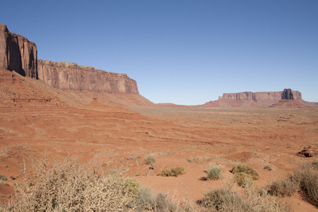 Beautiful red rock formations of Monument Valley, UtahArizona, USA.