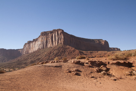 Beautiful red rock formations of Monument Valley, UtahArizona, USA.