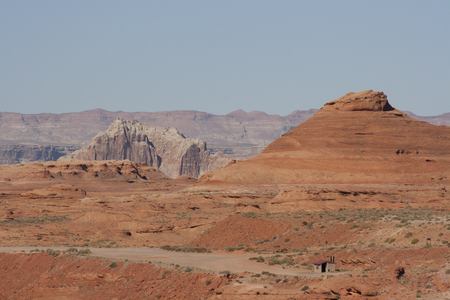 Red desert of Page, Arizona, USA.