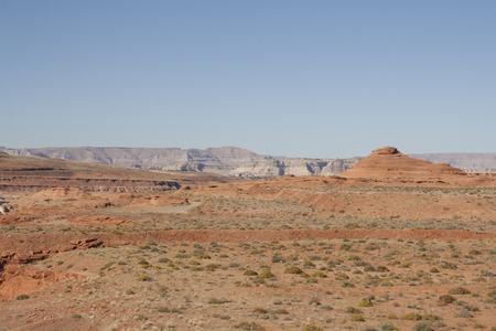 ページ、アリゾナ、米国の赤い砂漠。 写真素材