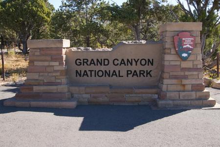 Sign of the Grand Canyon national park, Arizona, USA.