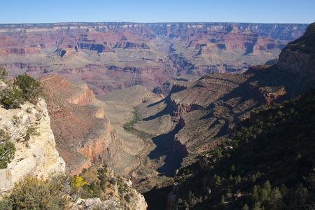 Beautiful cliffs, canyons, and valleys at the Grand Canyon national park, Arizona, USA.