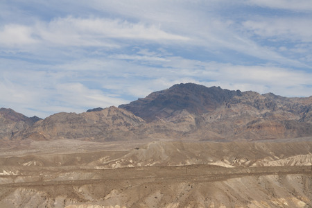Beautiful petrified sand dunes of Zabriskie Point, Death Valley national park, California, USA. Imagens - 85157009