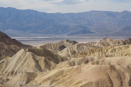 Beautiful petrified sand dunes of Zabriskie Point, Death Valley national park, California, USA.