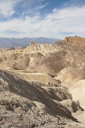 Beautiful petrified sand dunes of Zabriskie Point, Death Valley national park, California, USA. Imagens - 85157013