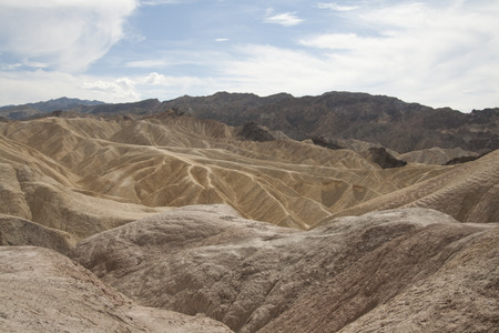 Beautiful petrified sand dunes of Zabriskie Point, Death Valley national park, California, USA. Imagens - 85157014