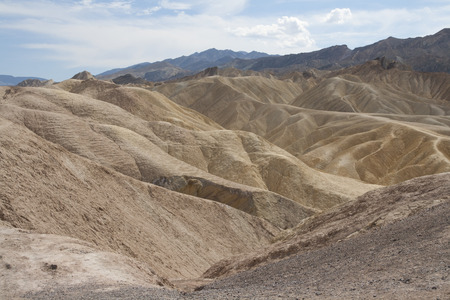 Beautiful petrified sand dunes of Zabriskie Point, Death Valley national park, California, USA. Imagens - 85100557