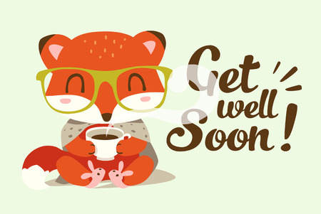 get well soon illustration Illustration