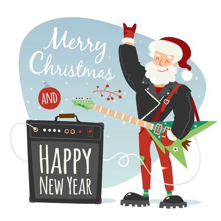 rock santa illustration