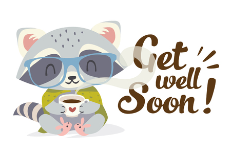 vector get well soon illustration Ilustrace