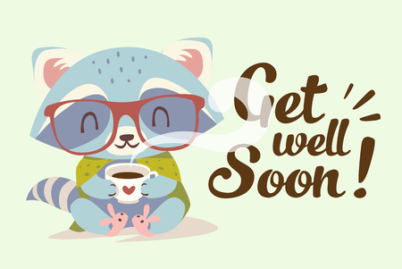 vector get well soon illustration Illustration