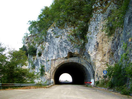 short trip: Tunnel in the  mountain