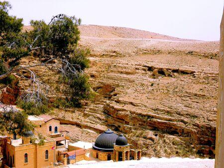 Travel to Israel. Bethlehem, Eastern Ortodox Cristian Monastery Saint Sabbas Stock Photo