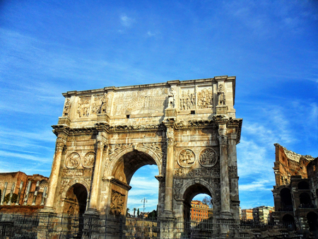 Italy, Rome, Arch of Constantine the Great in Rome