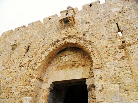 イスラエル、エルサレム、中東、構築された構造、旧市街のダマスカス門